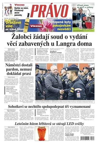 Právo - 30-10-2015 - Elektronické noviny
