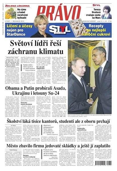 Právo - 01-12-2015 - Elektronické noviny