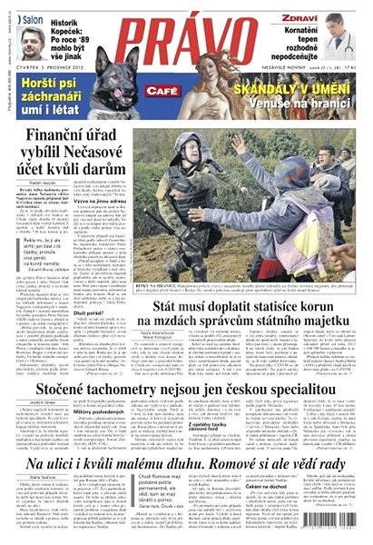 Právo - 03-12-2015 - Elektronické noviny