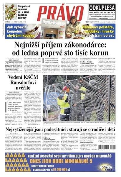 Právo - 09-12-2015 - Elektronické noviny