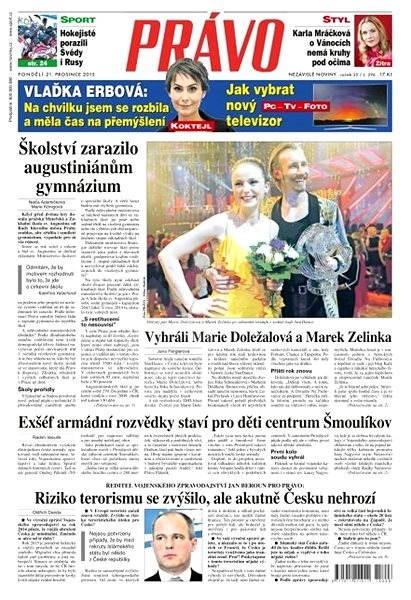 Právo - 21-12-2015 - Elektronické noviny