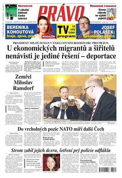 Právo - 23-01-2016 - Elektronické noviny