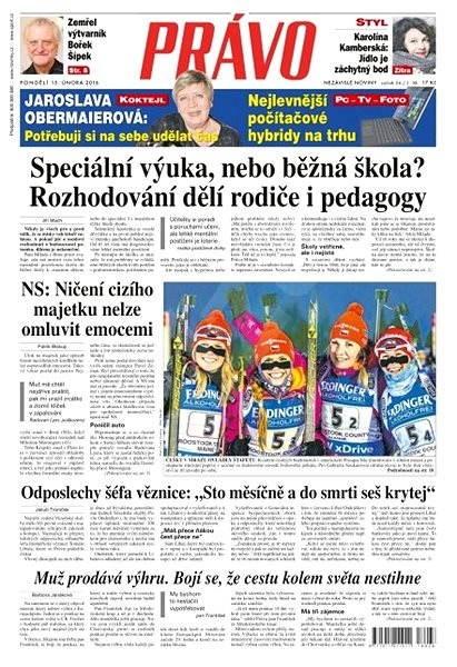 Právo - 15-02-2016 - Elektronické noviny