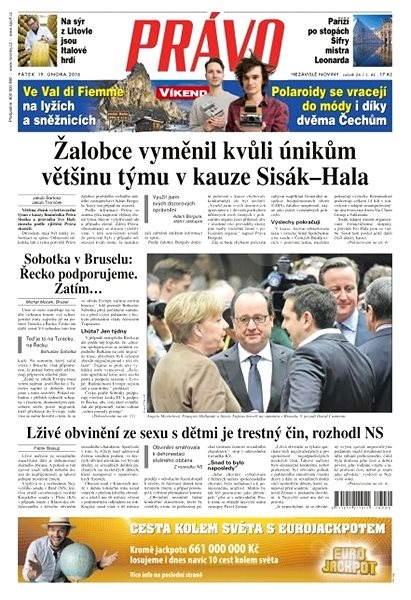Právo - 19-02-2016 - Elektronické noviny