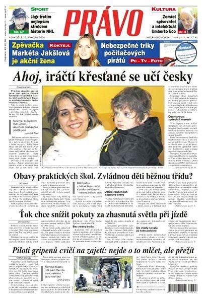 Právo - 22-02-2016 - Elektronické noviny
