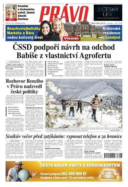Právo - 26-02-2016 - Elektronické noviny