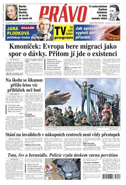 Právo - 27-02-2016 - Elektronické noviny