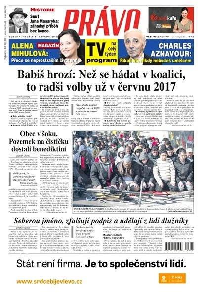 Právo - 05-03-2016 - Elektronické noviny
