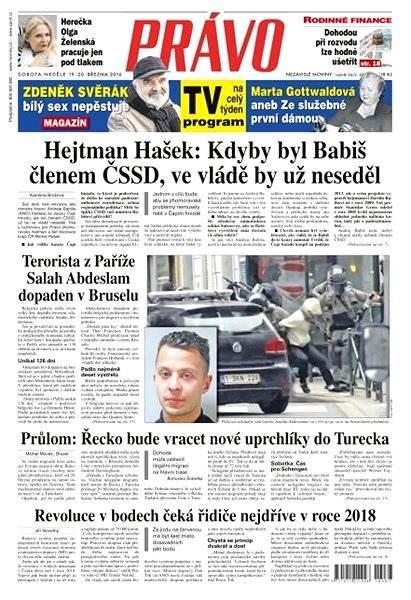 Právo - 19-03-2016 - Elektronické noviny