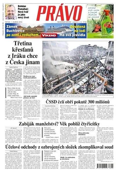 Právo - 01-04-2016 - Elektronické noviny