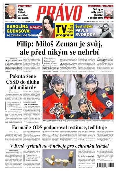 Právo - 02-04-2016 - Elektronické noviny