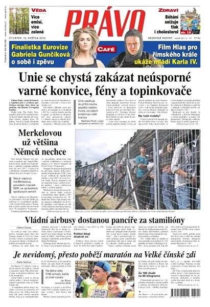 Právo - 12-05-2016 - Elektronické noviny