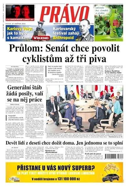 Právo - 27-05-2016 - Elektronické noviny