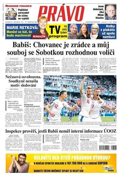 Právo - 18-06-2016 - Elektronické noviny