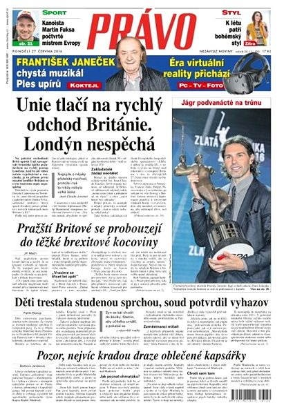 Právo - 27-06-2016 - Elektronické noviny