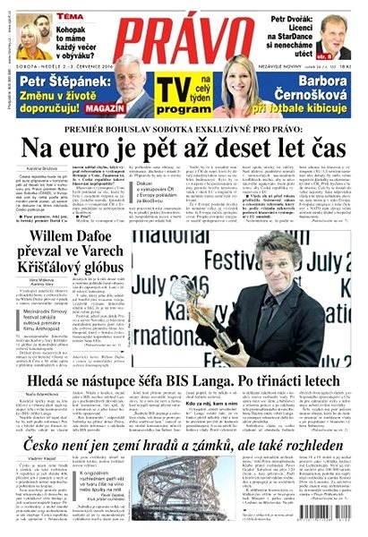 Právo - 02-07-2016 - Elektronické noviny