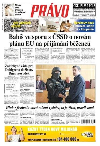 Právo - 20-07-2016 - Elektronické noviny