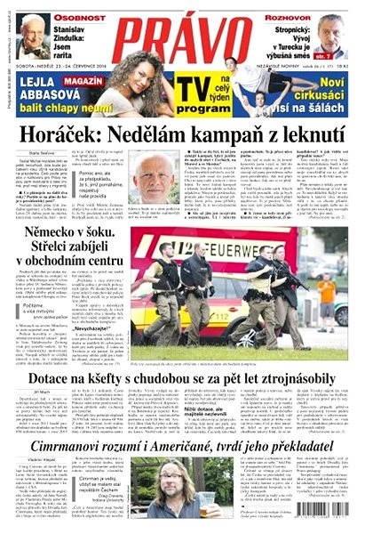 Právo - 23-07-2016 - Elektronické noviny