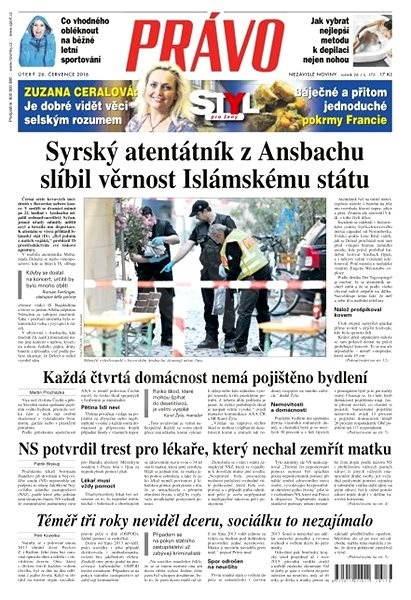 Právo - 26-07-2016 - Elektronické noviny