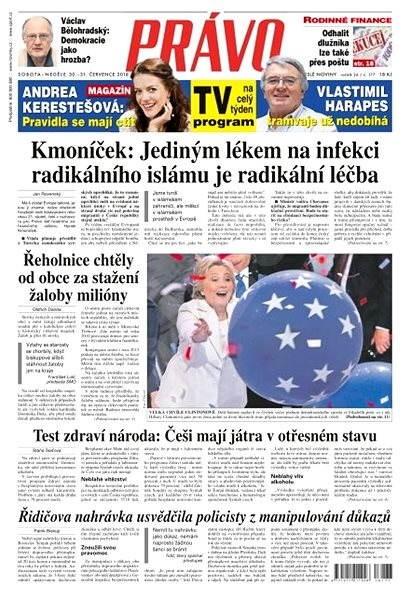 Právo - 30-07-2016 - Elektronické noviny