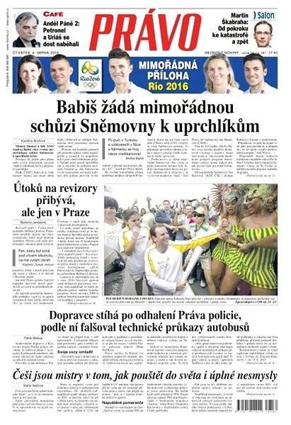 Právo - 04-08-2016 - Elektronické noviny