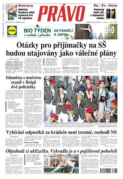 Právo - 08-08-2016 - Elektronické noviny