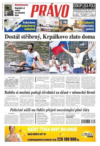 Právo - 17-08-2016 - Elektronické noviny