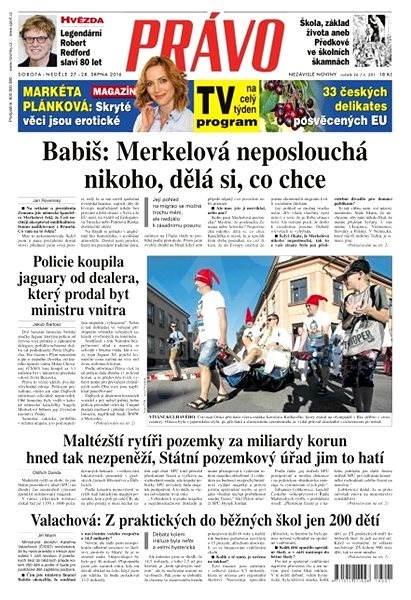 Právo - 27-08-2016 - Elektronické noviny