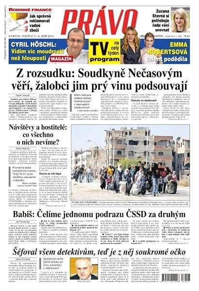 Právo - 03-09-2016 - Elektronické noviny