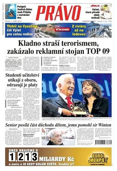 Právo - 09-09-2016 - Elektronické noviny