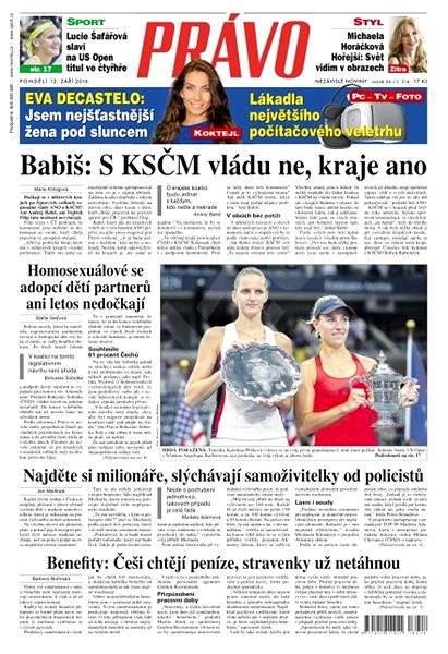 Právo - 12-09-2016 - Elektronické noviny