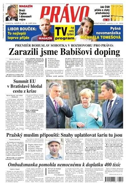 Právo - 17-09-2016 - Elektronické noviny