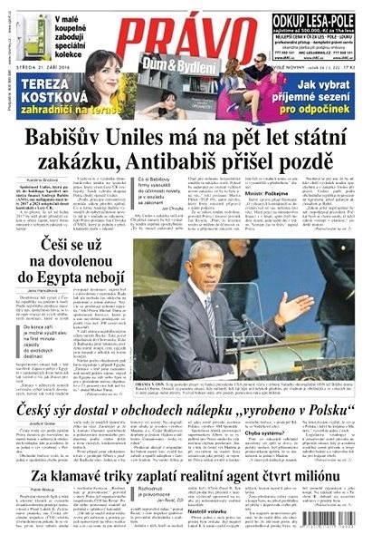 Právo - 21-09-2016 - Elektronické noviny