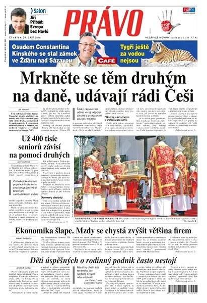 Právo - 29-09-2016 - Elektronické noviny