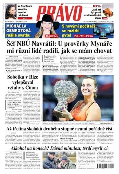 Právo - 07-11-2016 - Elektronické noviny