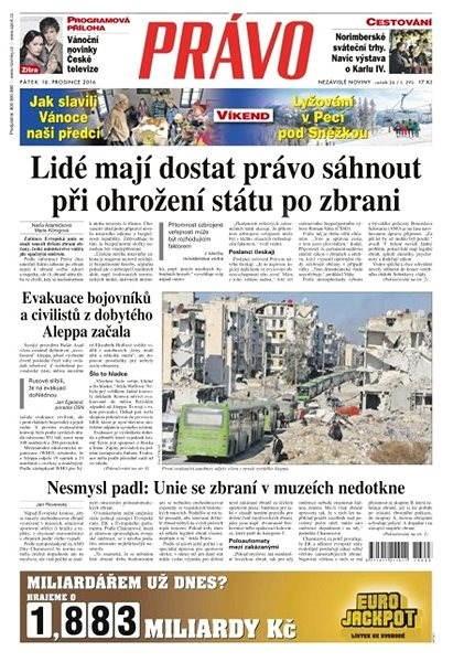 Právo - 16-12-2016 - Elektronické noviny