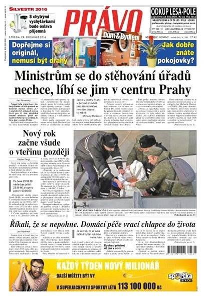 Právo - 28-12-2016 - Elektronické noviny