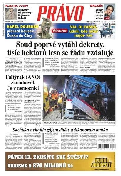Právo - 13-01-2017 - Elektronické noviny