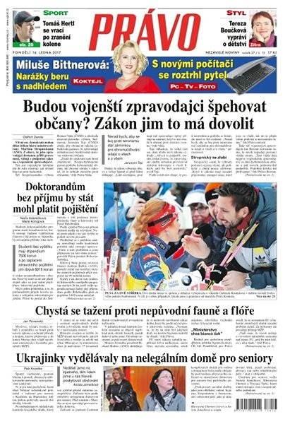 Právo - 16-01-2017 - Elektronické noviny