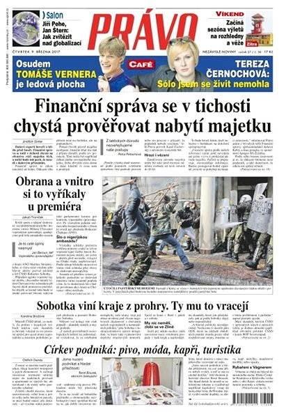 Právo - 09-03-2017 - Elektronické noviny