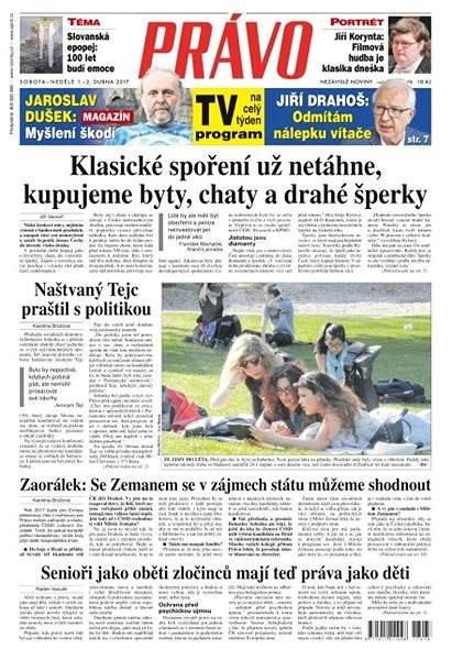 Právo - 01-04-2017 - Elektronické noviny
