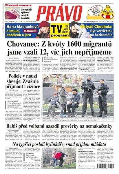 Právo - 15-04-2017 - Elektronické noviny