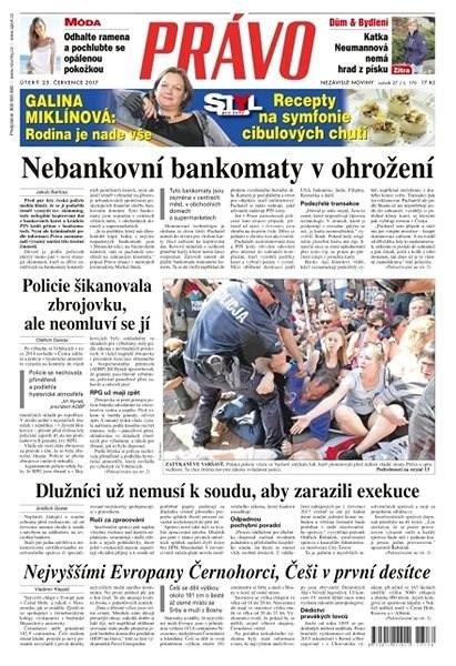 Právo - 25-07-2017 - Elektronické noviny