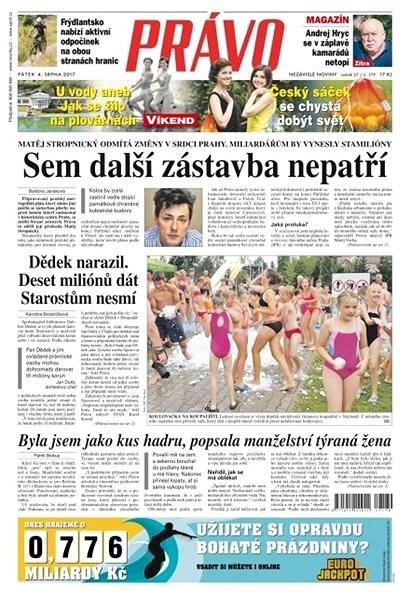 Právo - 04-08-2017 - Elektronické noviny