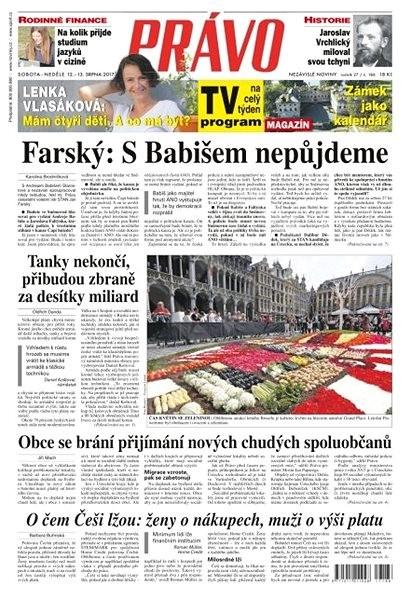 Právo - 12-08-2017 - Elektronické noviny