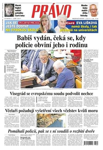 Právo - 07-09-2017 - Elektronické noviny