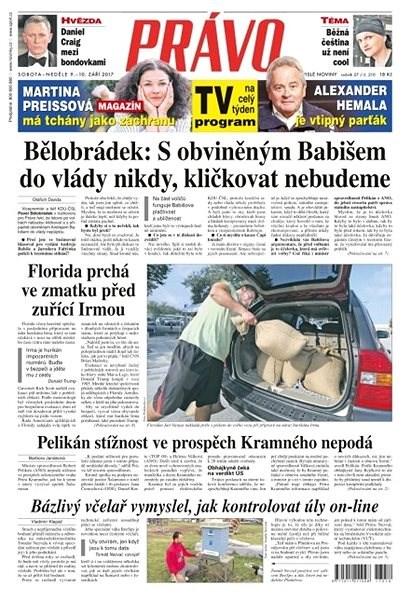 Právo - 09-09-2017 - Elektronické noviny