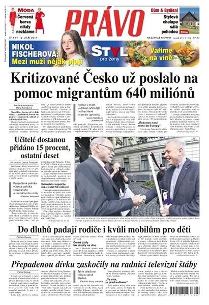 Právo - 12-09-2017 - Elektronické noviny