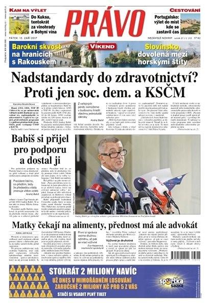 Právo - 15-09-2017 - Elektronické noviny