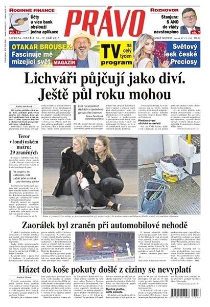 Právo - 16-09-2017 - Elektronické noviny